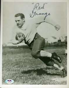 Red-Grange-PSA-DNA-Coa-Autograph-Hand-Signed-8x10-Photo