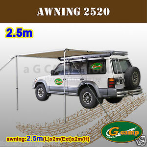 G-CAMP-2-5M-AWNING-ROOF-TOP-TENT-CAMPER-TRAILER-4WD-4X4-CAMPING-CAR-RACK