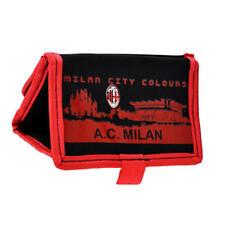 Ac Milan Fc Cartera Negro Y Rojo Con Bolsillo con cremallera
