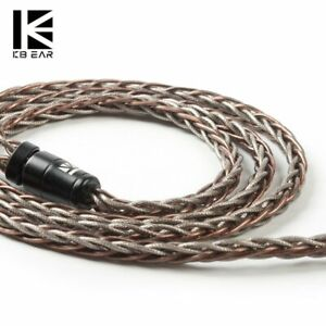 KBEAR Rhyme 8 Core Single Crystal Copper UPOCC IEM Audio Cable 3.5mm 2 Pin 0.78