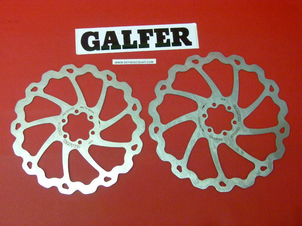 Disques de frein Galfer pour  vélo 185mm et 203mm DF0030W1BC DF0040W1BC  authentic online