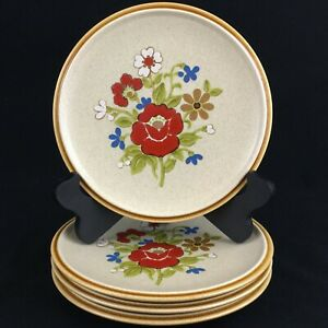 Set-of-4-VTG-Salad-Plates-7-1-2-034-Premiere-Stoneware-Country-Casuals-F5800-Japan