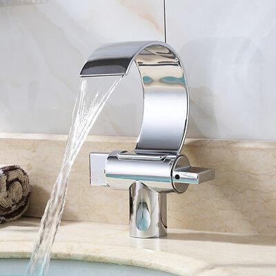 Wasserfall Waschtisch Armatur Badewanne Wasserhahn Waschbecken Mischbatterie