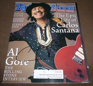 Details about CARLOS SANTANA SIGNED ROLLING STONE MAGAZINE #836 MARCH 16,  2000 SUPERNATURAL