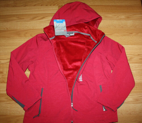 NWT Womens FREE COUNTRY Heathered Red Softshell Outerwear Full Zip Jacket Small