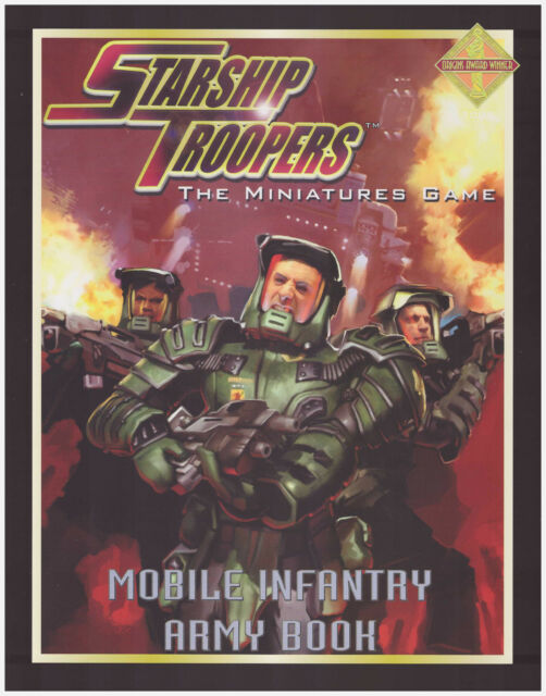 STARSHIP TROOPERS MOBILE INFANTRY ARMY BOOK MGP9101 Science Fiction Wargame *New