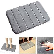 gray 40cm x 60cm anti-slip bath mat soft memory foam bathroom