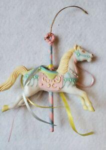 Ceramic ornament Pink Horse