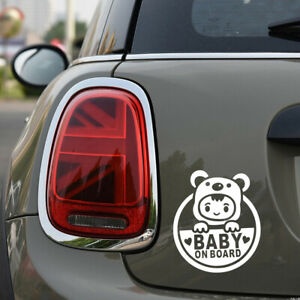 Baby-On-Board-Lovely-Car-Window-Vinyl-Decal-Sticker-Decals-Auto-Decoration-WHITE