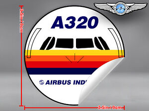 AIRBUS-INDUSTRIE-A320-A-320-FRONT-VIEW-DECAL-STICKER-3-5-x-3-5-in-9-x-9-cm