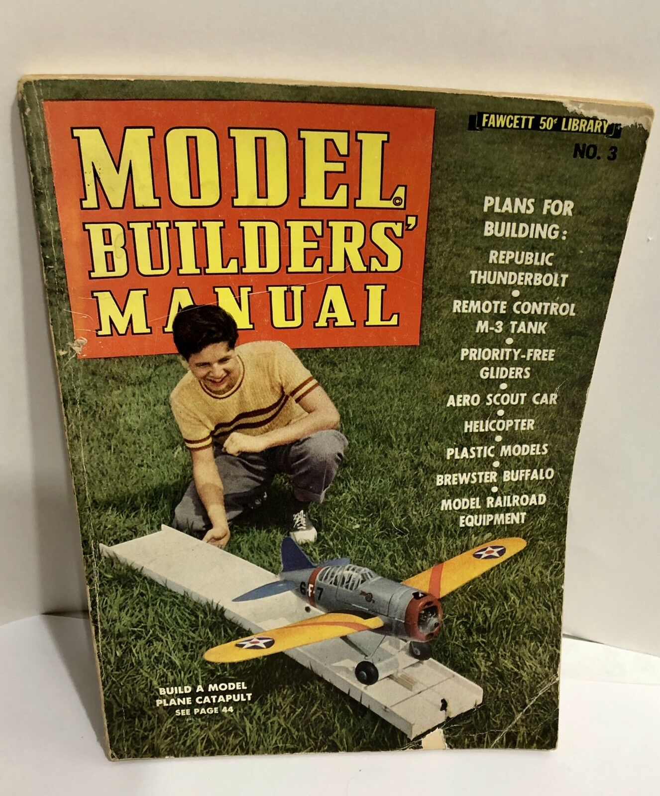 1942 Model Builders Handbook Vol3 Plans for Trains Planes Jeep Boats Tank Fawcet