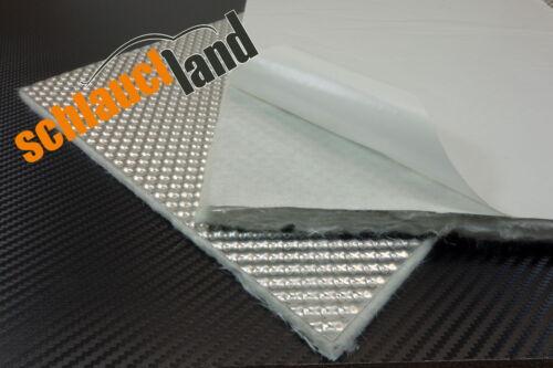 1,0m x 1,0m Alu-Keramik Hitzeschutzmatte ULTRA selbstklebend***Turbo Auspu