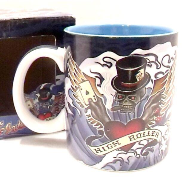 Las Vegas Skull Mug High Roller Coffee Cup Island Heritage New 12oz
