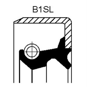 Wellendichtring Differential Corteco 19016587B