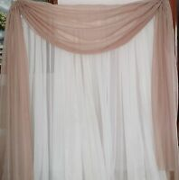 Scarf Or Balance For Drapes Or Windows 56 In (142 Cm) For Any Length You Need.