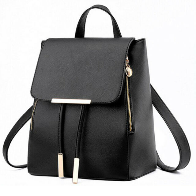 Womens Mini PU Leather Backpacks Ladies Girl Travel Rucksack Handbags  School Bag for sale online  1d38e86778b66