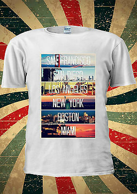 San Francisco Diego Los Angeles New York Miami T Shirt Men Women Unisex 1600