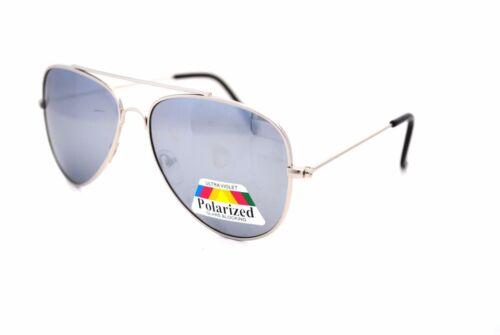 Argento a specchio Aviator Polarizzato Occhiali Da Sole Pilot CLASSIC MODA UOMO DONNA