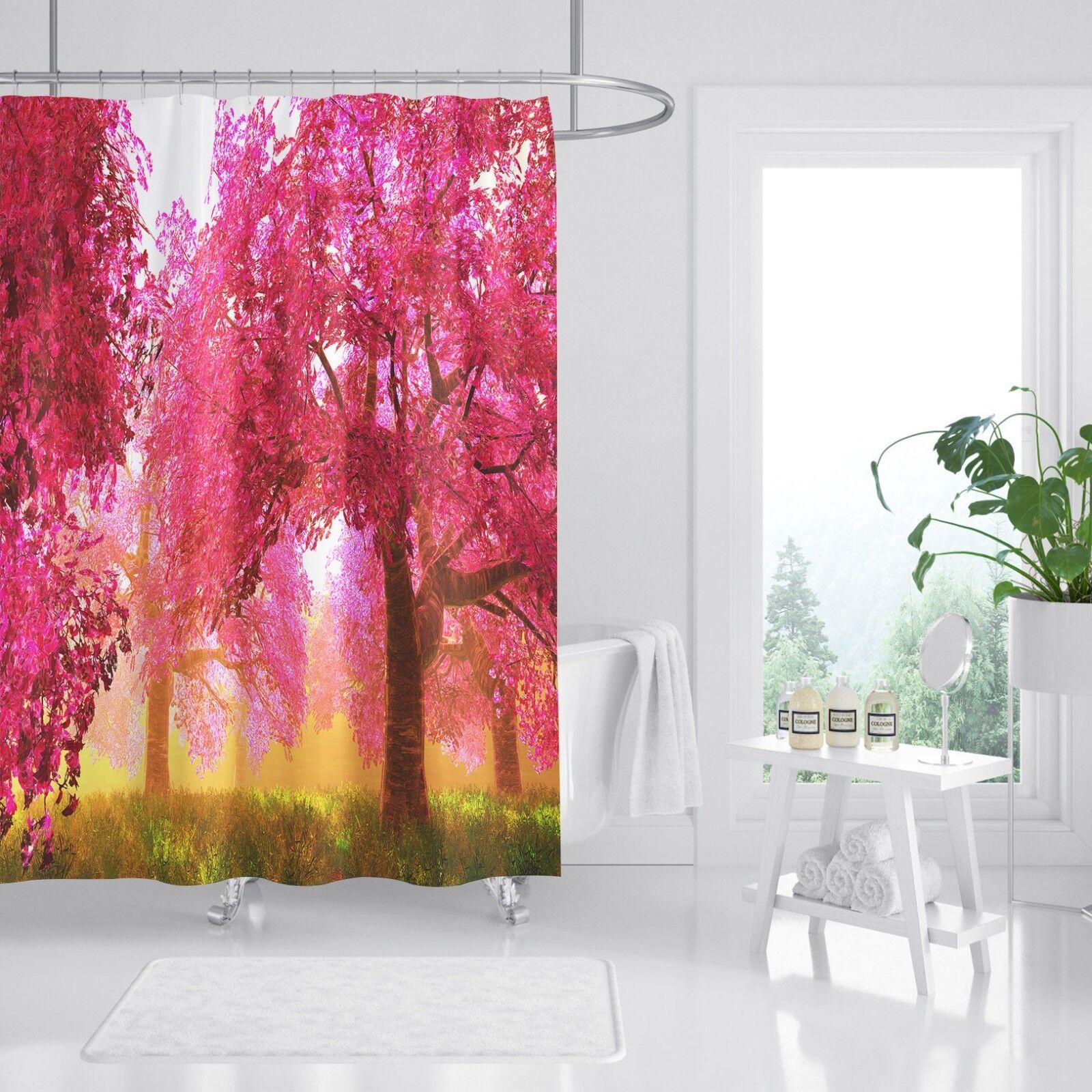 3D 3D 3D Roter Wald 232 Duschvorhang Wasserdicht Faser Bad Daheim Windows Toilette DE | Hohe Qualität und Wirtschaftlichkeit  fe257a