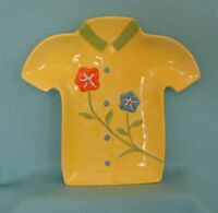 Hawaiian Shirt Serving Plate In Yellow - - Great For Display
