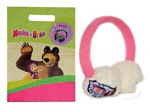 04413 - Cuffie Paraorecchie masha e orso taglia unica per bambine freddo