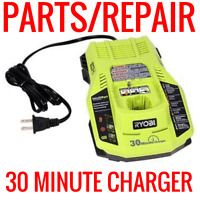 RYOBI ONE+ P117 18 VOLT DUAL CHEMISTRY BATTERY CHARGER FOR PARTS OR REPAIR PLUS