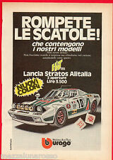 Pubblicità Advertising BBURAGO 1976 Lancia Stratos Alitalia