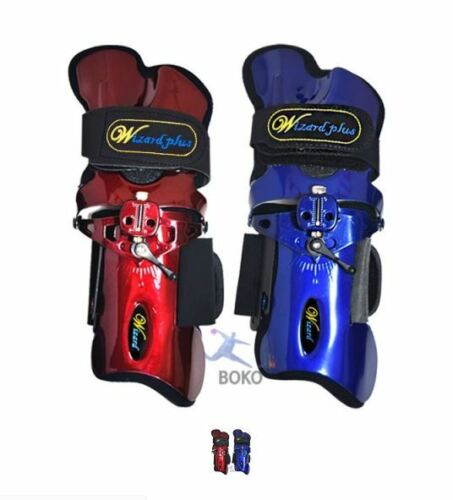 WIZARD PLUS Blue Wine Mammoth Bowling Wrist Support Right Hand Gloves