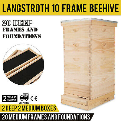 Langstroth Bee Hive 10 Frame Screened Bottom Board Amish Made in USA