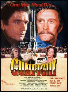 A gun fight 1971 Kirk Douglas Johnny Cash movie poster print