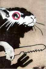 Banksy Rat With Knife Fork A4 10x8 Photo Print Poster