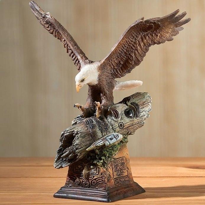 Eagle Sculpture Totem   WWD6567387232   Mill Creek studios