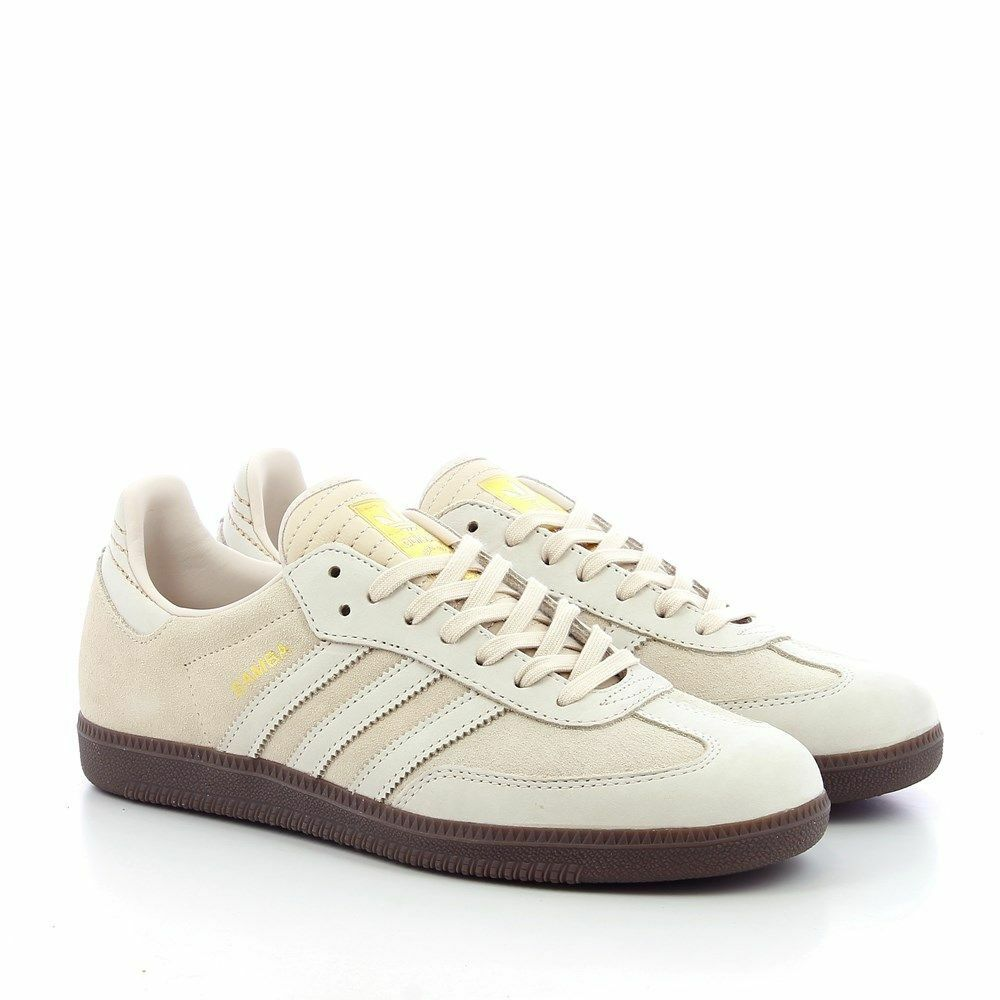 Men's Adidas Originals SAMBA BEIGE KHAKI CQ2090 Suede shoes Gum SZ 7-13 Casual
