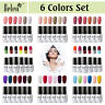 Belen 6 Colors Set Gel Nail Polish Varnish UV Soak Off Manicure Top Base Coat