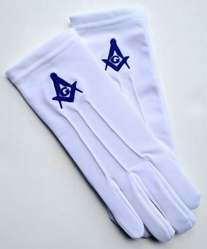 MASONIC GLOVES IN 100/% PURE COTTON