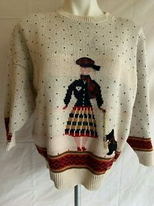 1960s sweater top with monkeys applique