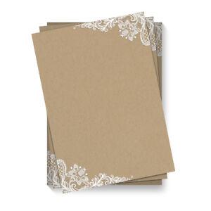 Briefpapier-Motivpapier-DIN-A4-Beidseitig-Vollflaechig-Kraftpapier-Look