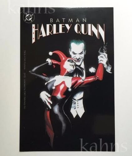 "DC Comics Batman Harley Quinn /& The Joker Sticker Decal  6/"" Licensed New"