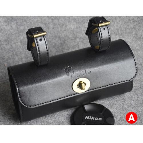 Retro Vintage Leder Fahrradtasche Sitztasche Gepäckträgertasche Sattelhecktasche