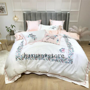 Luxury-Egypt-Cotton-Bedding-Set-Embroidery-Hollow-Edge-Duvet-Cover-Bed-Sheet