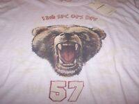 Lucky Brand bear S/s Sleep Shirt Off White Men's Lg $30