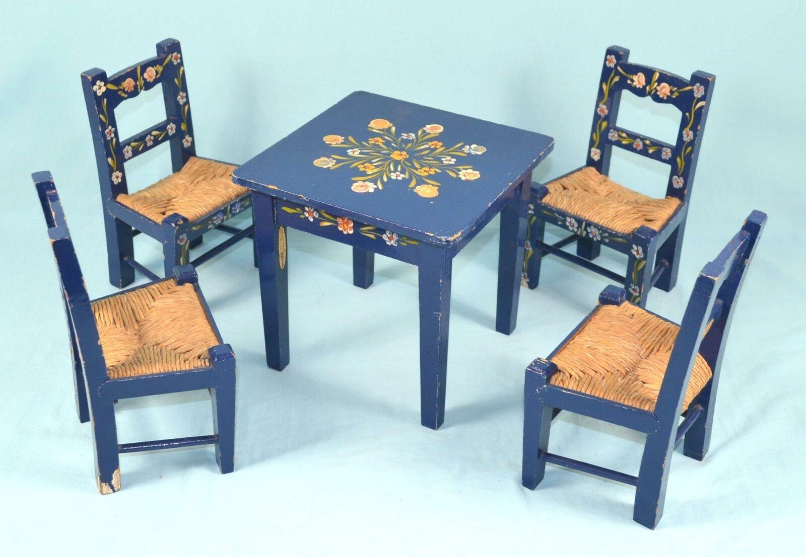 buen precio  Muñeca Muebles de Gadi Gadi Gadi de Portugal - 7.5  X 7.5  Mesa Con Cuatro Sillas  las mejores marcas venden barato