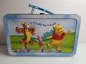 Disney's Winnie The Pooh Collectible Metal Lunchbox A Friendly Day Indeed