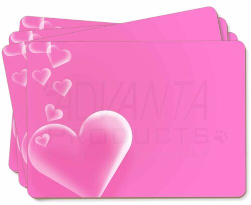 Pink Hearts Love Gift Picture Placemats in Gift Box LOVE-1P