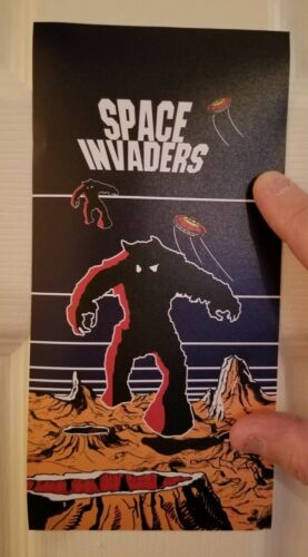 Space Invaders side art  sticker. 4.5 x 9. (Buy 3 stickers, GET ONE FREE!)