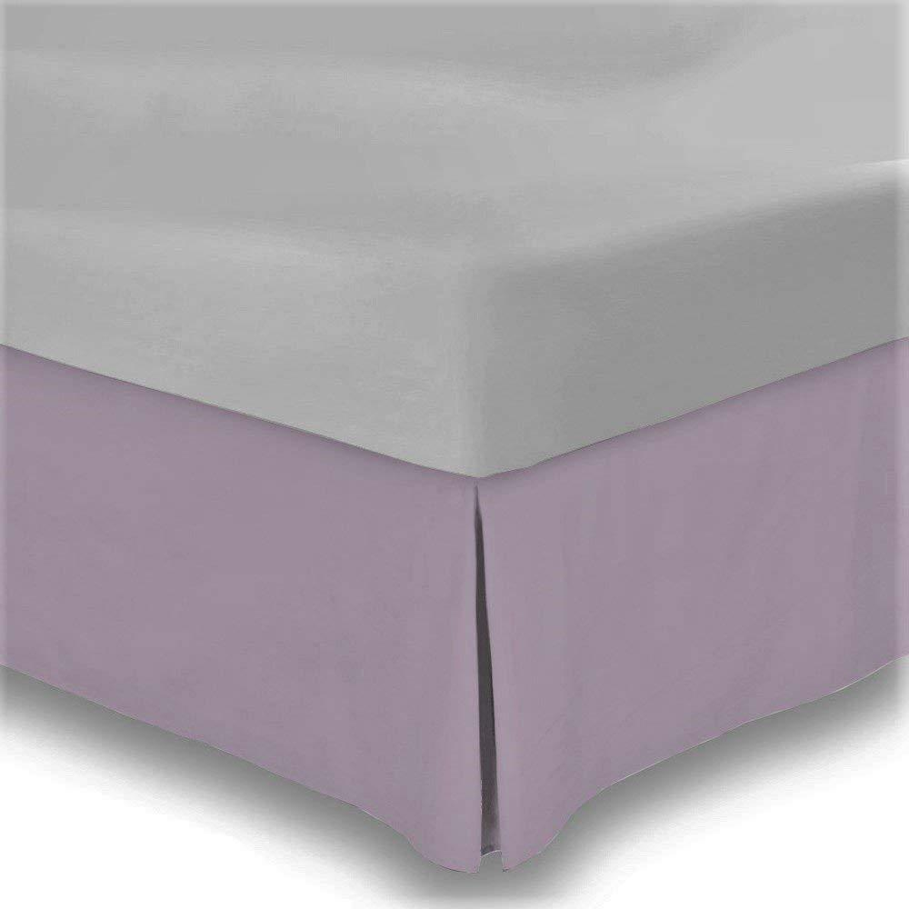 1000 TC Egyptian Cotton Drop Length 1 pc Bed Skirt purplec Solid color All Sizes