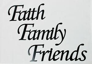 Faith family friends metal words in black metal wall art home image is loading faith family friends metal words in black metal publicscrutiny Choice Image