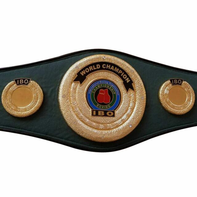 WBO Boxing Championship Belt Metal Plates Adult Premium Quality Leather