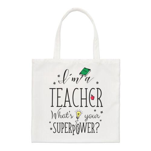 I/'M A Teacher What/'s Your Superpower Regulär Einkaufstasche Shopper