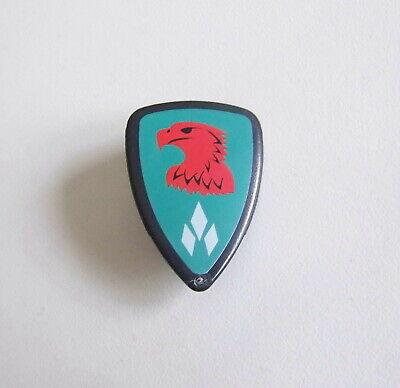 L697 Bouclier Gris Vert Aigle Rouge Chevalier 4866 MOYEN-AGE PLAYMOBIL